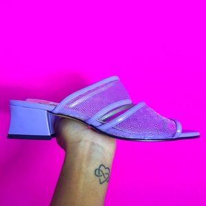 Pastel Purple Kitten Heels